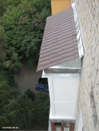 Монтаж и покрытие крыши балкона