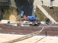 Устранение течи на отливе балкона