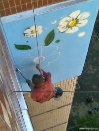 Утепление наружной стены, нанесение граффити на стену