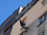 Окраска стены квартиры после ее наружного утепления