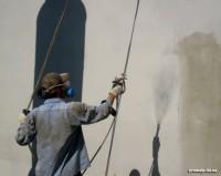 Окраска фасадов зданий, металлоконструкций - промышленный альпинизм